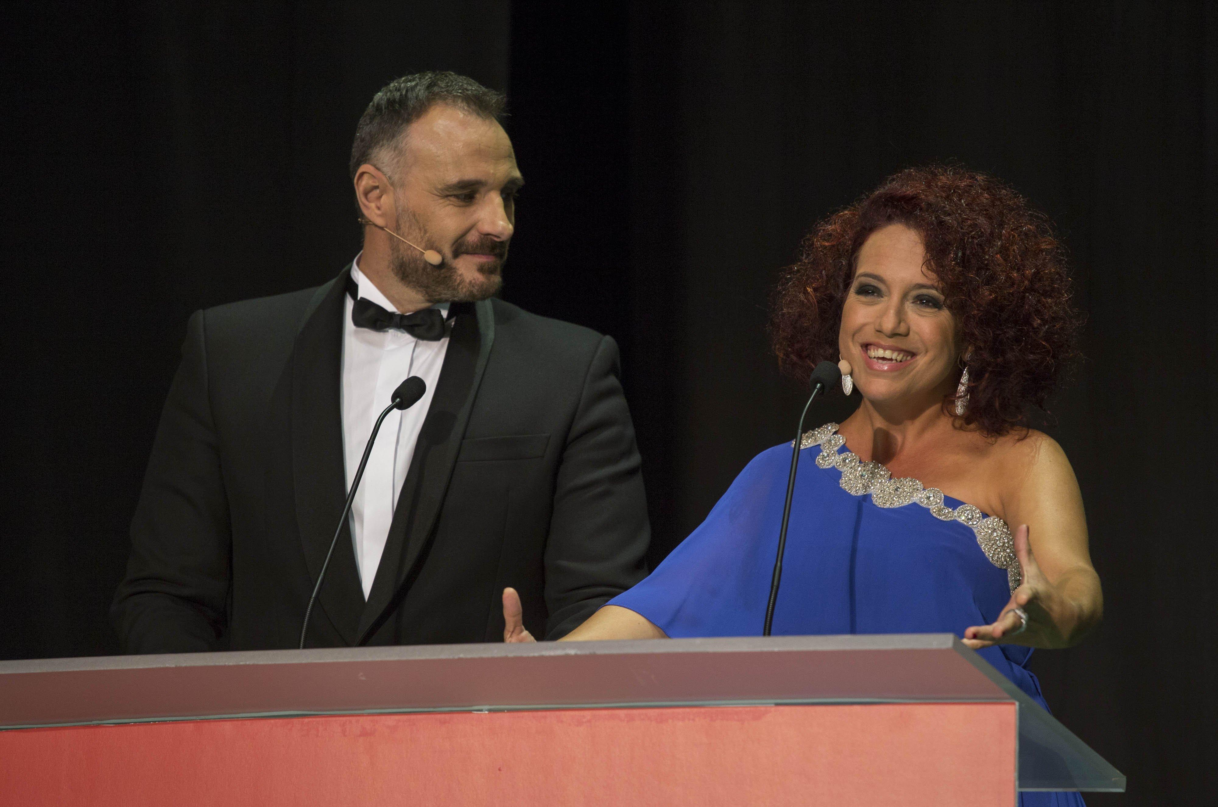 Presentadores gala, Laura de la Uz y Juan Carlos Roldán