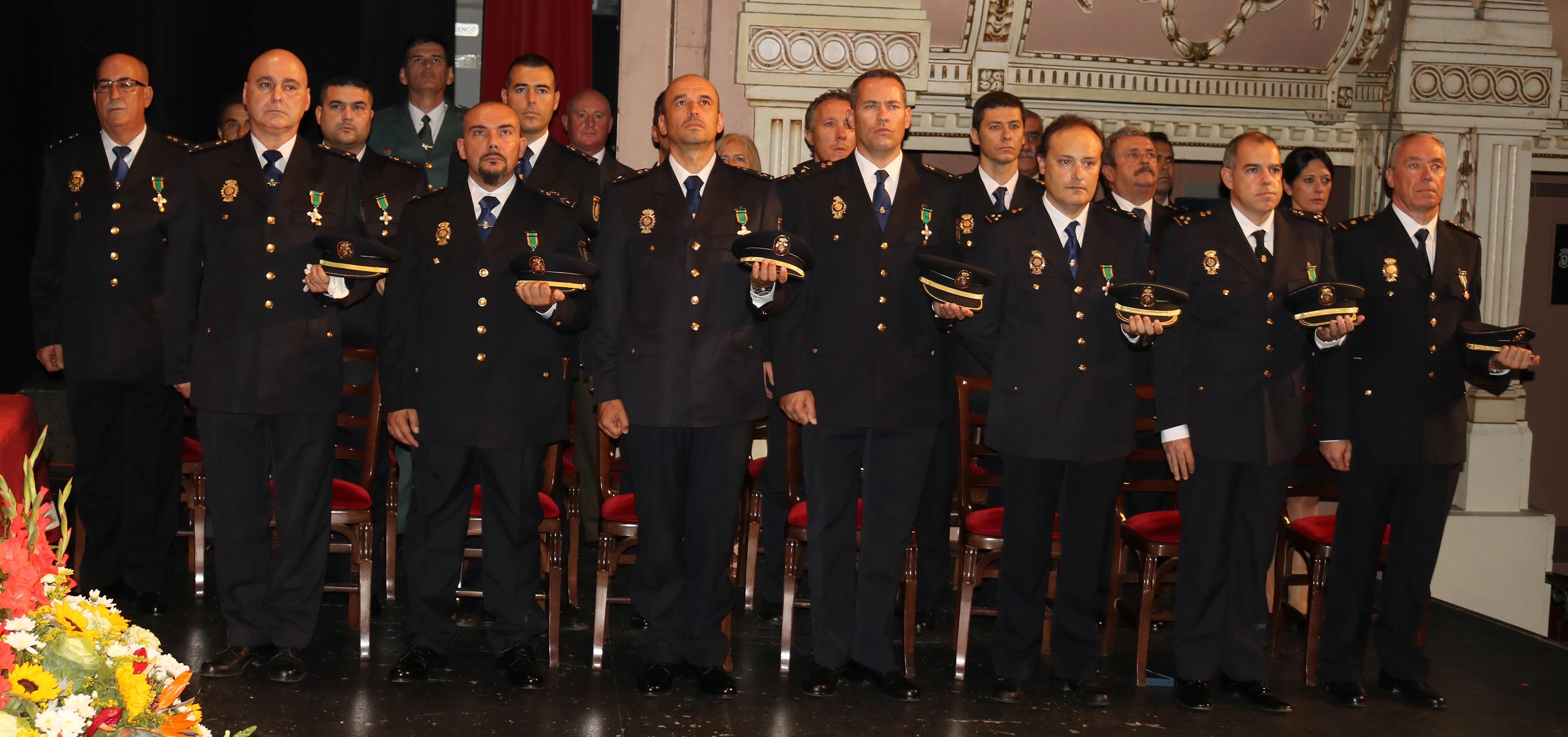20171002 Acto Día Policía Nacional los condecorados