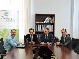 Francisco José Romero visita Adesva, que apuesta por la competitividad empresarial, materializada en el desarrollo de servicios empresariales y trabajos de I+D+i