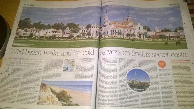 The Times publica un reportaje sobre las bondades de Huelva, a la que se refiere como 'la costa secreta de España'
