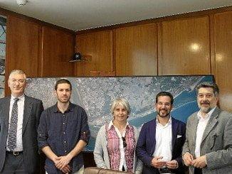 Visita del presidente de la Comisión de Fomento del Congreso al Puerto de Huelva.