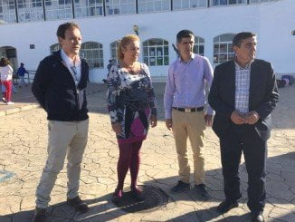 El delegado de Educación de Huelva ha visitado las obras