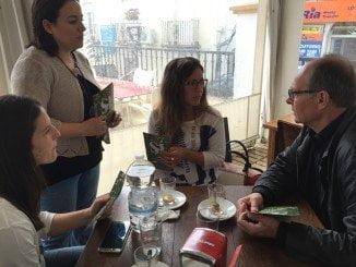 Díaz Trillo ha realizado un reparto de dípticos en Palos de la Frontera