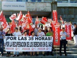 CCOO continuará con el calendario previsto para  las concentraciones en toda Andalucía