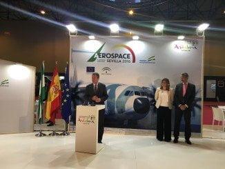 Susana Díaz Inauguró hoy la Feria Aeroespacial, en Fibes