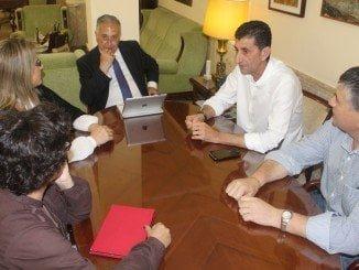 La primera reunión Donaire y Pérez Vigueras, tras el nombramiento del ugetista como secretario general en Huelva