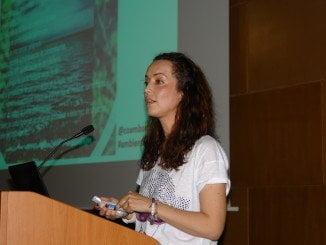 Pilar Sevilla, ingeniera técnica forestal y ambientóloga, ha impartido la charla
