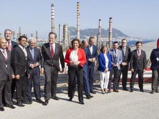 La Presidenta de la Junta de Andalucía, Susana Díaz, asiste al 50 aniversario de la refinería de CEPSA Gibraltar-San Roque