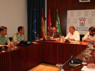 El alcalde de Cartaya, que se ha reunido con las fuerzas de Seguridad, llama a la tranquilidad