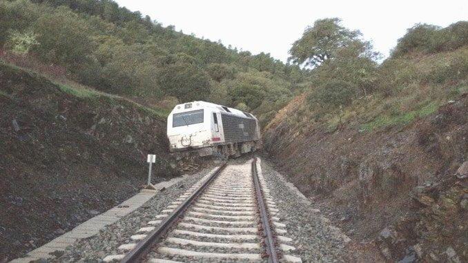 Retrospectiva de otro incidente en la línea férrea Huelva-Zafra