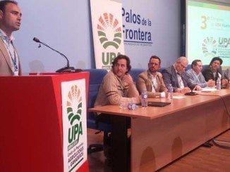 El secretario general de los agricultores y ganaderos de Huelva interviene durante el congreso