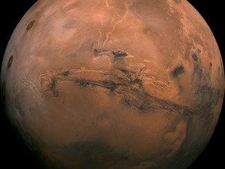 Fotografía de Marte tomada por la NASA