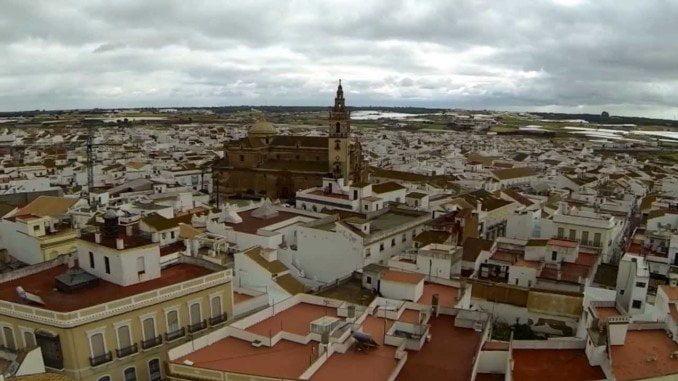 Localidad de Moguer, donde se ubicaba la agencia de viajes