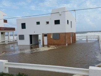 El temporal causó estragos en La Antilla