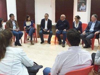 El presidente de Diputación se reúne con los alcaldes y portavoces de la provincia