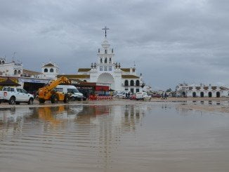 El Rocío, inundado