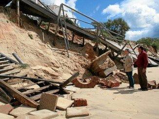 Los recientes vendavales han producido importantes destrozos en la costa onubensa