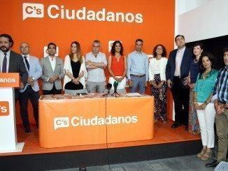 Presentación de las listas de Ciudadanos en Huelva