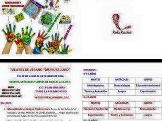 Cartel anunciador de los talleres de verano