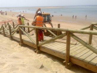 Las obras de emergencia en El Portil van a buen paso