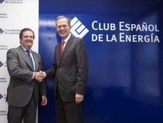 Los presidentes entrante y saliente en la elección de Borja Prado Eulate