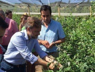 José Fiscal ha estado acompañado por el alcalde de Aroche en una visita a  la finca La Belleza