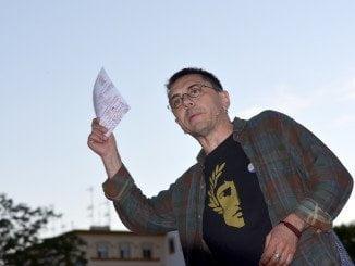 El primitivo discurso 'revolucionario' de Podemos fue el que trajo a Huelva Monedero.