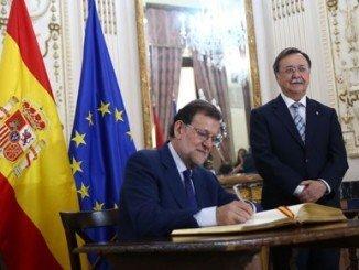 Mariano Rajoy, durante su visita a Ceuta