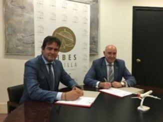 Representanes de Fibes e Iberia firman un acuerdo de colaboración