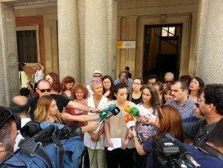 Isabel Franco realiza declaraciones a los medios ante la Subdelegación del Gobierno