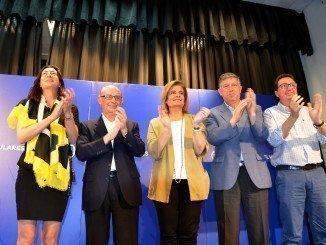 Los ministros Montoro y Fátima Báñez, en Palos este sábado