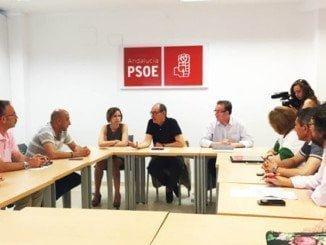 Díaz Trillo y Manuel Guerra han mantenido un encuentro con los sindicatos