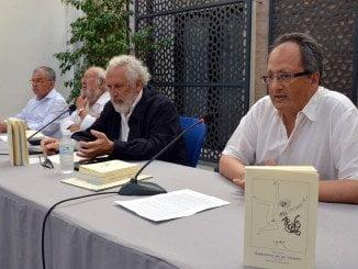 Acto de presentación del poemario en Diputación