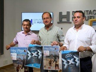 El diputado de Deportes presenta los circuitos acompañado de José Luis Pena y José Carrasco