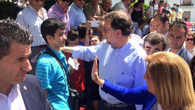 El candidato a la presidencia del Gobierno por el PP hace campaña en Huelva