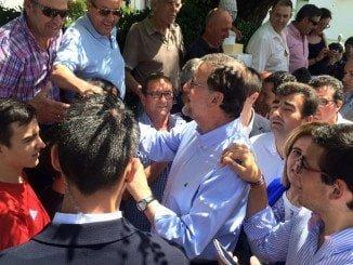 Rajoy ha participado en un acto público en la localidad serrana de Santa Olalla del Cala