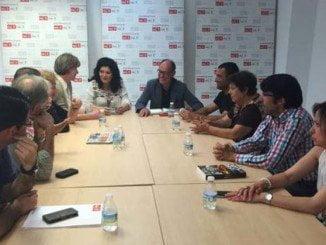 El candidato socialista ha mantenido una reunión con la asociación Amigos del Museo
