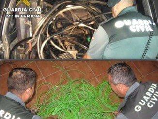 Los agentes realizaron una batida de la zona, siendo localizados unos 700 metros de cableado
