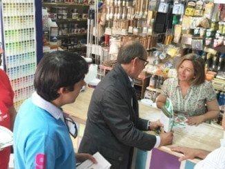 Díaz Trillo busca compromiso con el pequeño comercio y con los autónomos