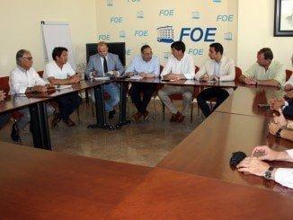 El líder andaluz de Ciudadanos ha mantenido una reunión con la Confederación Española de Comercio
