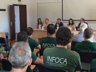 Fiscal se reúne con los trabajadores del Infoca en Cabezudos