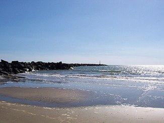 Playa de El Espigón, en Huelva