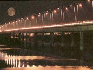 El puente del Odiel volverá a estar iluminado