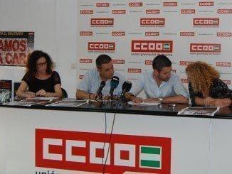 CC OO ha ofrecido una rueda de prensa para explicar la situación que viven los trabajadores del sector turístico
