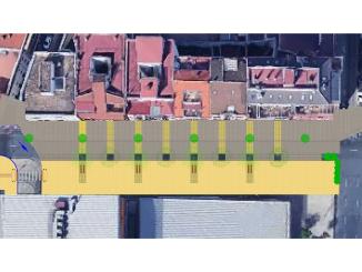 Fotomontaje explicativo de cómo quedará la peatonalización y el final de la avenida de Italia