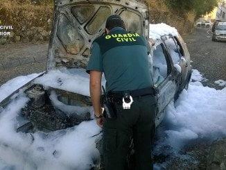 La rápida actuación de los agentes y de los bomberos ha evitado que el fuego se propagara