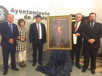 El alcalde de Huelva ha presidido el acto de presentación del cartel oficial de la Procesión Magna