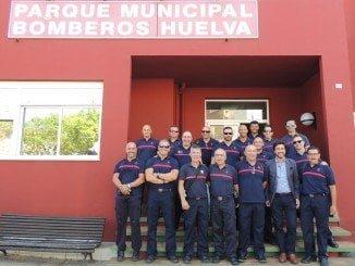 Los Bombeeros de Huelva, al mando de Canelo, se formarán  en incendios marinos en Texas