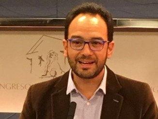 Antonio Hernando, potavoz del PSOE  en el Congreso de los Diputados