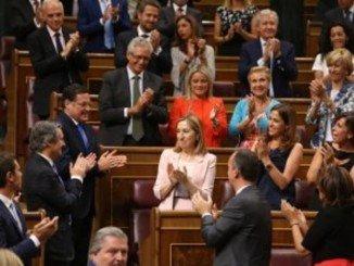 Ana Pastor, tras ser proclamada presidenta del Congreso de los Diputados
